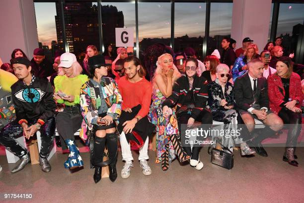 Brandon Thomas Lee Jennifer Grace Hewoon Kim Gigi Gorgeous Nats Getty Lyn Slater and Thom Brown attend the Libertine fashion show during New York...