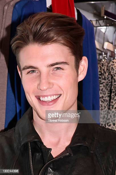 Brandon Thornton attends the Love Culture holiday launch soiree hosted by Ariana Grande at Love Culture Santa Monica Place on November 17 2011 in...