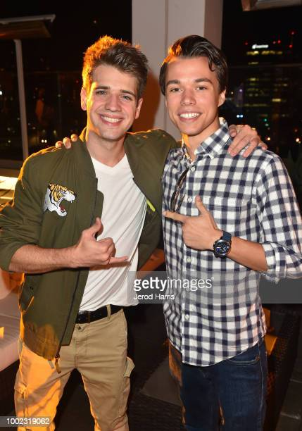 Brandon Tyler Russell and Colton Shires attend AMC's 'Better Call Saul' Season 4 Premiere After Party during ComicCon International 2018 at UA Horton...