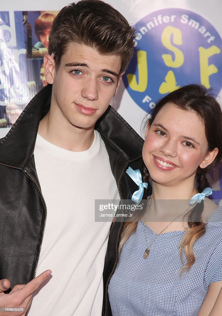 Brandon Tyler Russell and Jennifer Smart attend the 'Show Your Character' a costume benefit and concert for The Jennifer Smart Foundation's Find Your Voice Program held at the Smooth Sound Multimedia on October 27, 2012 in Van Nuys, California.