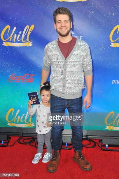 Brandon Tyler Russell and Serenity Russell attend CHILL Media/Night VIP on December 13 2017 in Long Beach California