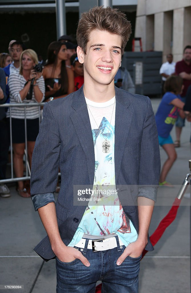 Brandon Tyler Russell arrives at a Los Angeles special screening of 'I Give It A Year' held at ArcLight Hollywood on August 1, 2013 in Hollywood, California.