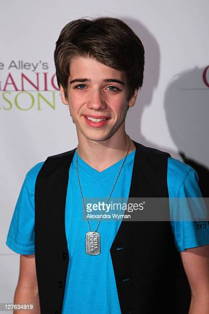 Brandon Tyler Russell arrives at Kirstie Alley's Organic Liaison Store Grand Opening on March 9 2011 in Los Angeles California