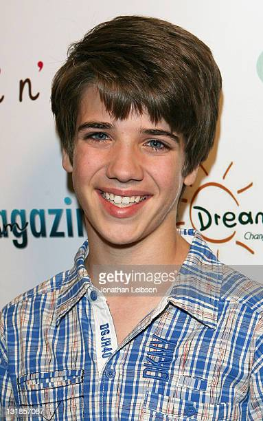 Brandon Tyler Russell arrives for the Dream Magazine Launch Party at The Painted Nail on November 6 2010 in Sherman Oaks California