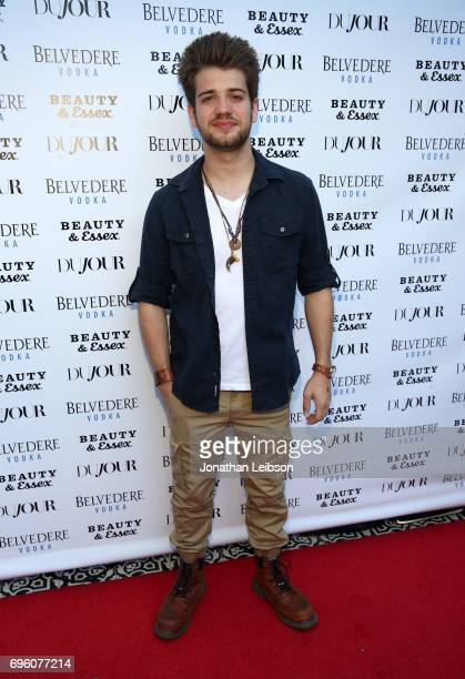 Brandon Tyler Russell attends DuJour's Summer Issue Cover Party with Lily James presented by Belvedere Vodka at Beauty Essex on June 12 2017 in Los...