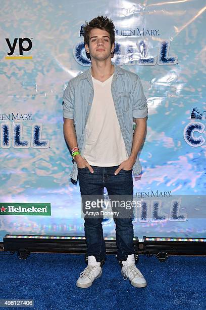 Brandon Tyler Russell attends the Queen Mary's CHILL Freezes Over SoCal at The Queen Mary on November 20 2015 in Long Beach California