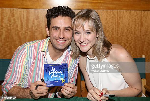 Brandon Uranowitz and Jill Paice from the Broadway cast 'An American In Paris' celebrate the musical's new Broadway cast recording with a concert and...