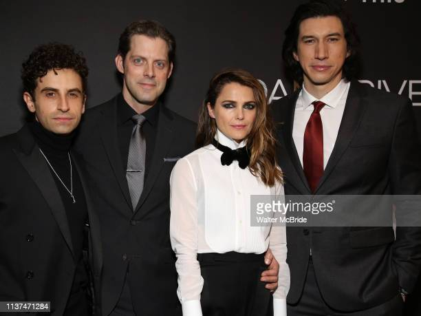 Brandon Uranowitz David Furr Keri Russell and Adam Driver attend the Broadway Opening Celebration for Landford Wilson's Burn This at Hudson Theatre...