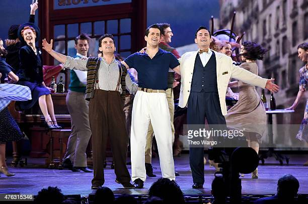 Brandon Uranowitz Robert Fairchild Max von Essen and the cast of An American in Paris perform onstage at the 2015 Tony Awards at Radio City Music...