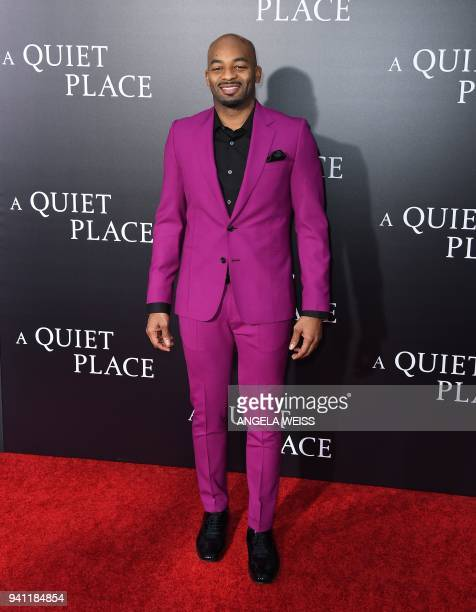 Brandon Victor Dickson attends the Paramount Pictures premiere for 'A Quiet Place' at AMC Lincoln Square Theater on April 2 2018 in New York City /...