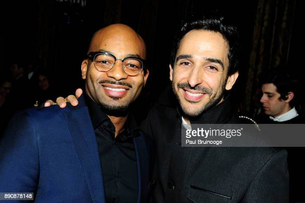Brandon Victor Dixon and Amir Arison attend the New York premiere of 'Phantom Thread' After Party at Harold Pratt House on December 11 2017 in New...