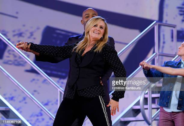 Brandon Victor Dixon and Samantha Bee during Full Frontal With Samantha Bee Not The White House Correspondents Dinner on April 26 2019 in Washington...