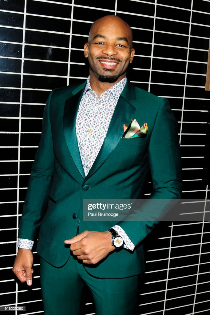 Brandon Victor Dixon attends The Cinema Society with Ravage Wines & Synchrony host the after party for Marvel Studios' 'Black Panther' at The Skylark on February 13, 2018 in New York City.