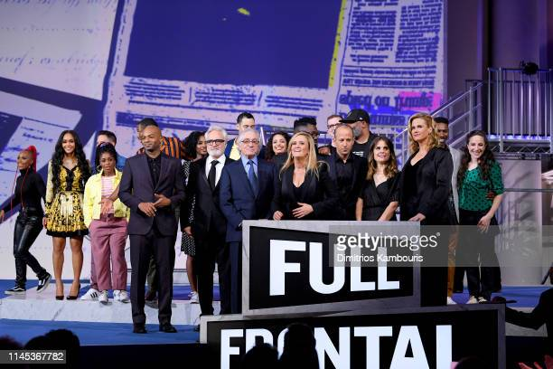 Brandon Victor Dixon Robert De Niro Saweetie and Samantha Bee speak onstage during Full Frontal With Samantha Bee Not The White House Correspondents...