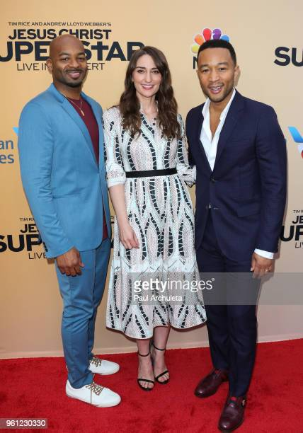 Brandon Victor Dixon Sara Bareilles and John Legend attend NBC's 'Jesus Christ Superstar Live In Concert' FYC event at the Egyptian Theatre on May 21...