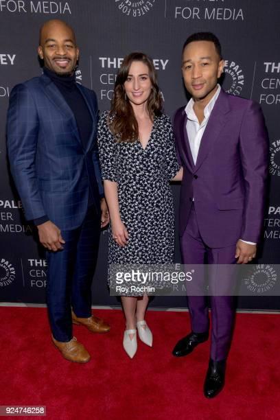 Brandon Victor Dixon Sara Bareilles and John Legend attend The Paley Center for Media presents Behind The Scenes Jesus Christ Superstar Live In...