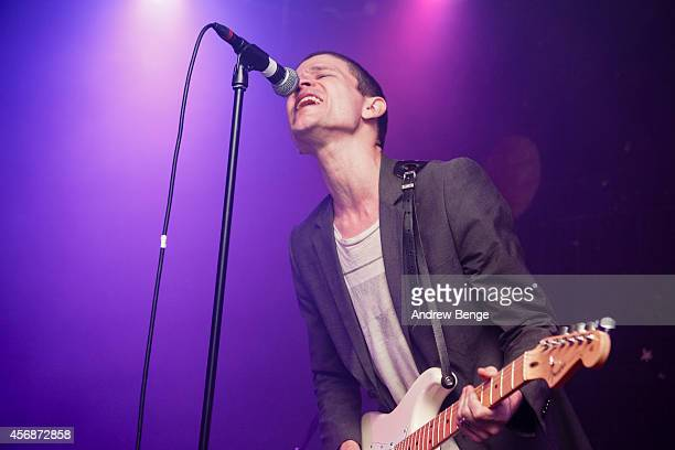 Brandon Welchez of Crocodiles performs on stage at Brudenell Social Club on October 8 2014 in Leeds United Kingdom