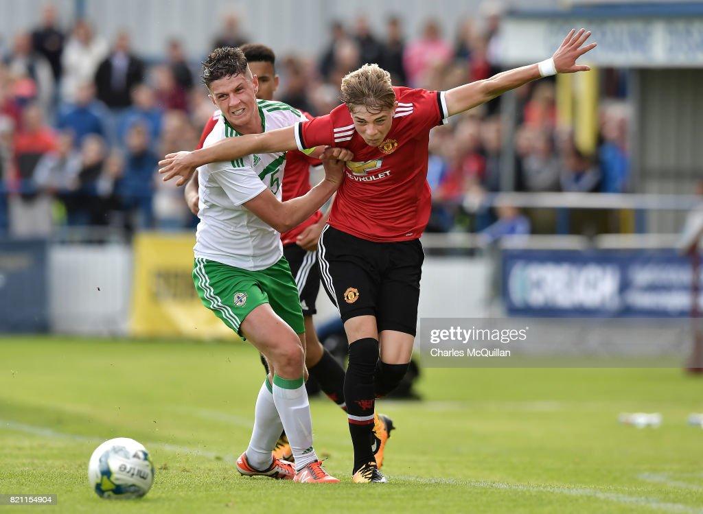 Northern Ireland U18s v Manchester United U18s: SuperCupNI : News Photo