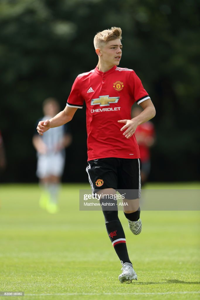 Brandon Williams of Manchester United during the U18 Premier League match between West Bromwich Albion and Manchester United on August 19, 2017 in West Bromwich, England.