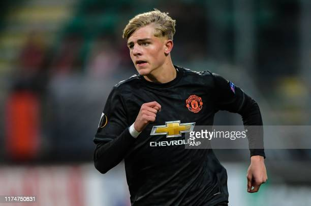 Brandon Williams of Manchester United during the UEFA Europa League group L match between AZ Alkmaar and Manchester United at Cars Jeans stadium on...