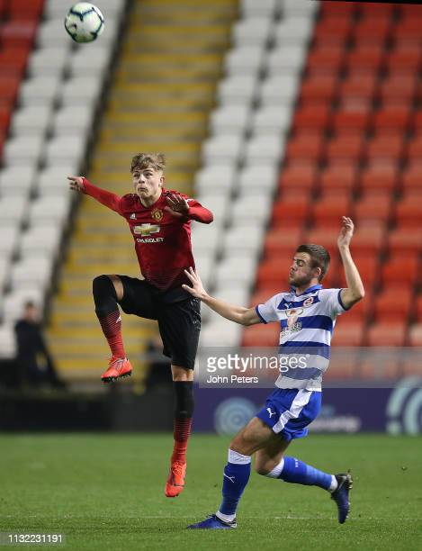 Brandon Williams of Manchester United U23s in action during the Premier League International Cup match between Manchester United U23s and Reading...
