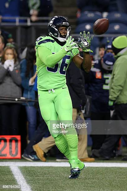 Brandon Williams of the Seattle Seahawks in action before the game against the Los Angeles Rams at CenturyLink Field on December 15 2016 in Seattle...
