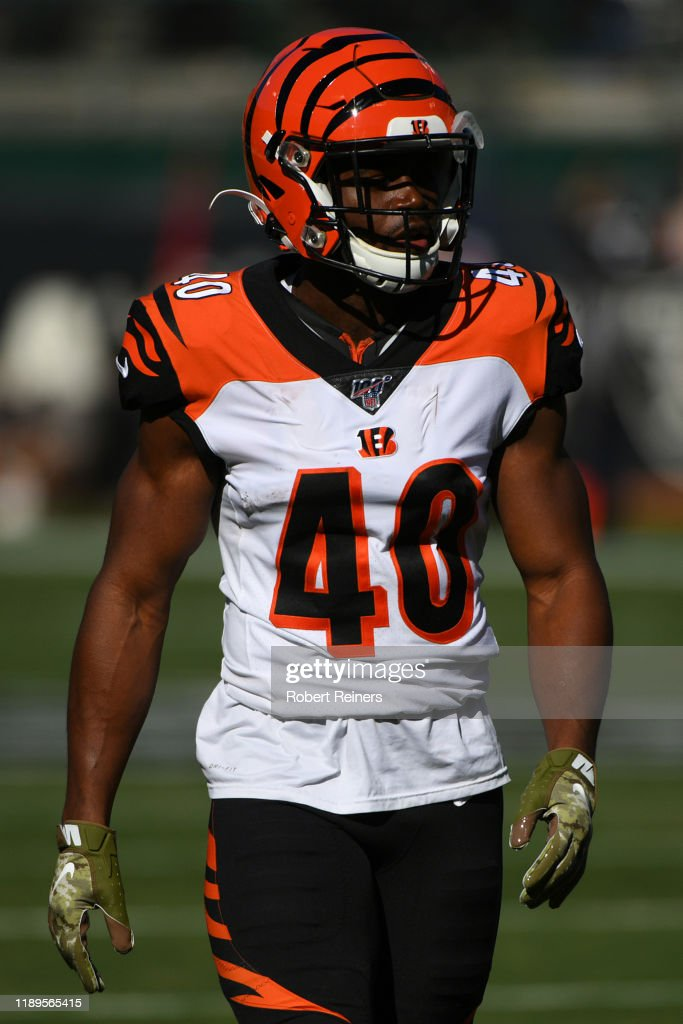 Brandon Wilson of the Cincinnati Bengals looks on during their NFL ...