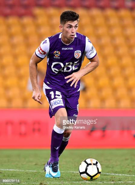Brandon Wilson of the Glory in action during the round 11 ALeague match between the Brisbane Roar and the Perth Glory at Suncorp Stadium on December...