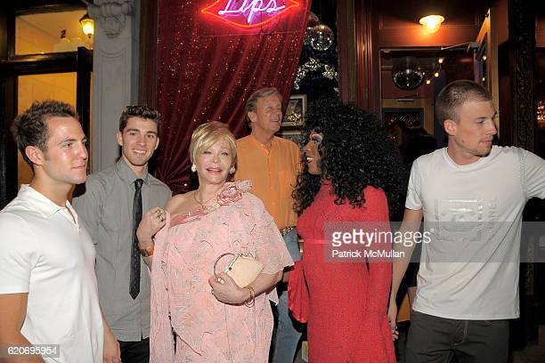 Brandon Wright, Taylen Richards, Monique Von Vooren, Jeffrey Thomas, Guest and Nathan Mackley attend LISA ANASTOS and HUNT SLONEM BIRTHDAY PARTY at...