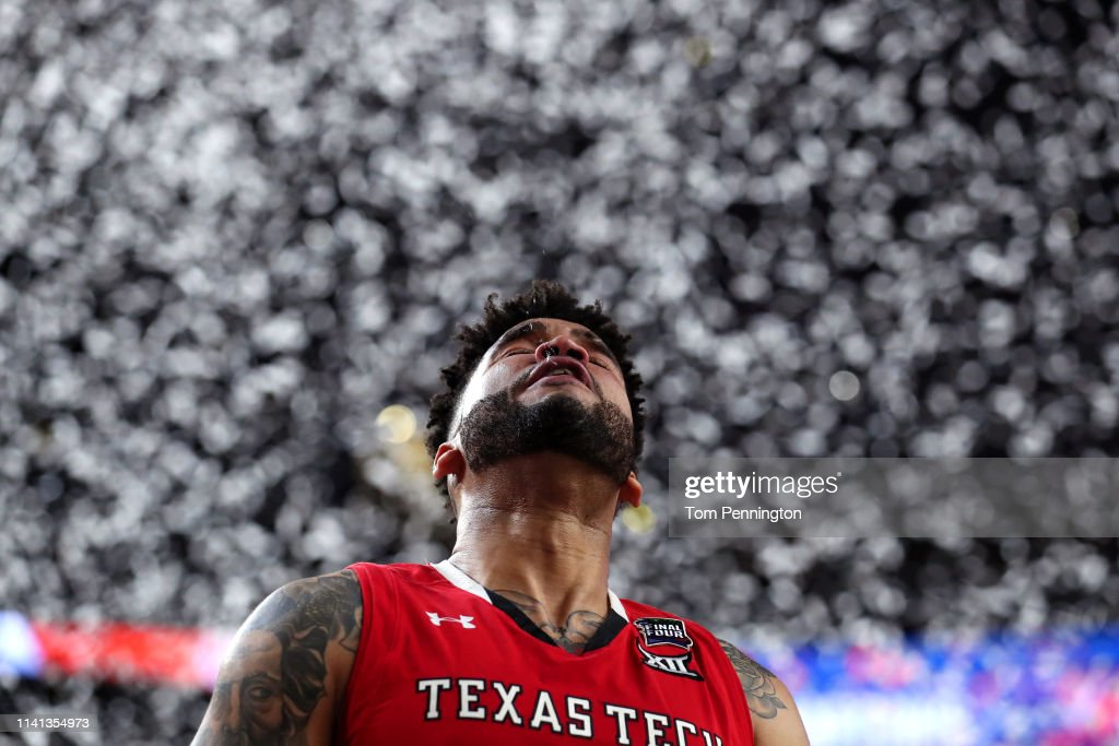 Brandone Francis of the Texas Tech Red Raiders reacts after his ...