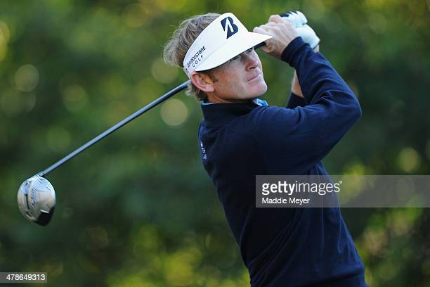 Brandt Snedeker hits a tee shot on the 11th hole during the second round of the Valspar Championship at Innisbrook Resort and Golf Club on March 14...
