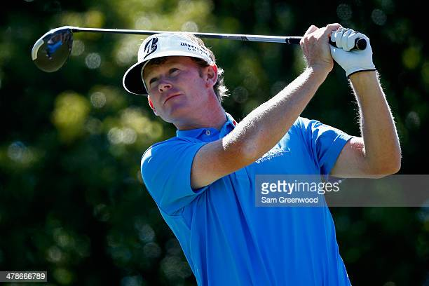 Brandt Snedeker hits a tee shot on the 6th hole during the second round of the Valspar Championship at Innisbrook Resort and Golf Club on March 14,...