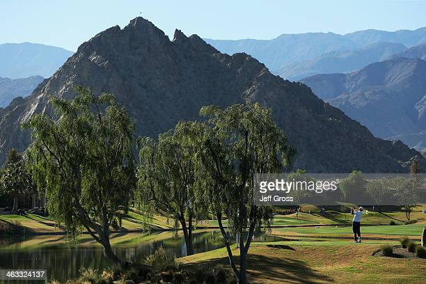 Brandt Snedeker hits a tee shot on the fourteenth hole of the Jack Nicklaus Private Course at PGA West during the second round of the Humana...