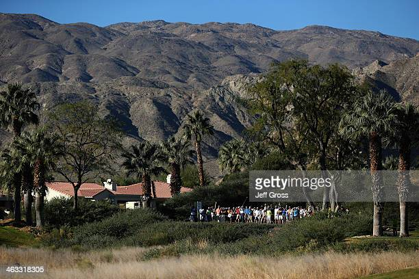 Brandt Snedeker hits a tee shot on the twelfth hole of the Jack Nicklaus Private Course at PGA West during the second round of the Humana Challenge...
