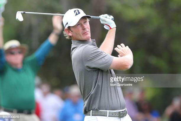 Brandt Snedeker hits his tee shot on the 8th hole during the third round of the Valspar Championship on March 10 at Westin Innisbrook-Copperhead...