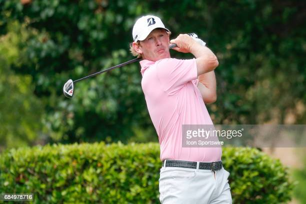 Brandt Snedeker hits his tee shot on the first tee during the first round of the ATT Byron Nelson on May 18 2017 at the TPC Four Seasons Resort in...