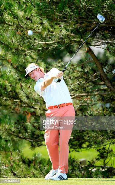 Brandt Snedeker hits off the fourth tee during the Third Round of the BMW Championship at Conway Farms Golf Club on September 14 2013 in Lake Forest...