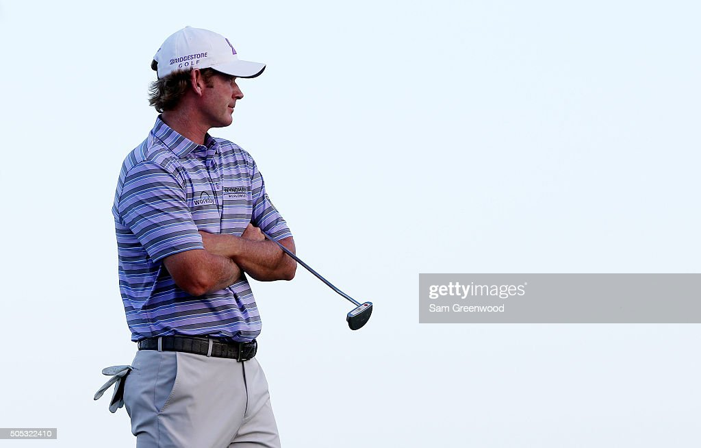 Brandt Snedeker looks on from the 17th green during the third round of the Sony Open In Hawaii at Waialae Country Club on January 16, 2016 in Honolulu, Hawaii.
