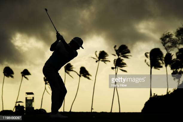 Brandt Snedeker of the United States plays his shot from the 11th tee during the first round of the Sony Open in Hawaii at the Waialae Country Club...