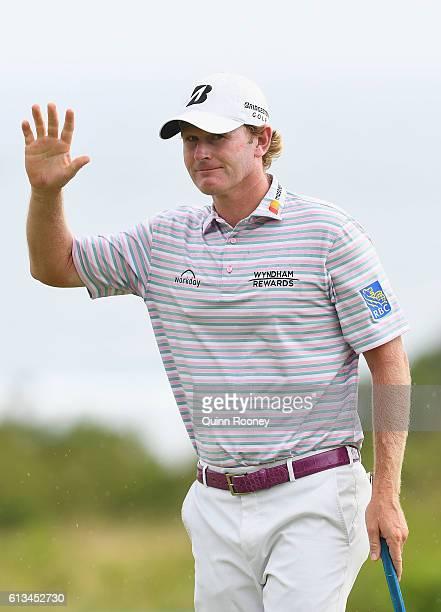 Brandt Snedeker of the USA celebrate winning on day four of the 2016 Fiji International at Natadola Bay Golf Course on October 9 2016 in Natadola Fiji