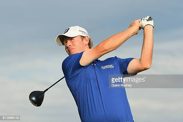 Brandt Snedeker of the USA tees off during day two of the 2016 Fiji International at Natadola Bay Golf Course on October 7 2016 in Natadola Fiji