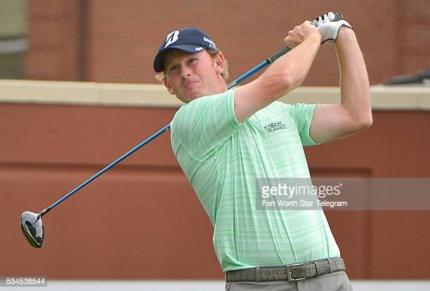 Brandt Snedeker on the 1st tee during the first round of the Dean & DeLuca Invitational at Colonial Country Club in Fort Worth, Texas, on Thursday,...