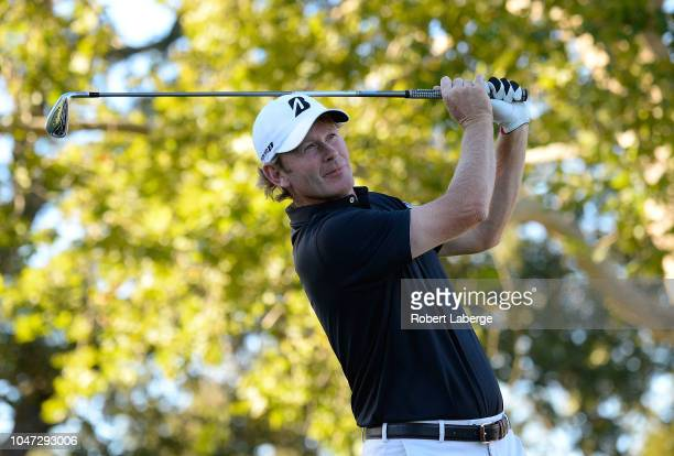 Brandt Snedeker plays his shot from the 17th tee during the final round of the Safeway Open at the North Course of the Silverado Resort and Spa on...
