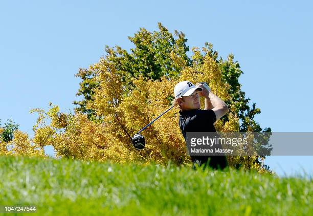 Brandt Snedeker plays his shot from the first tee during the final round of the Safeway Open at the North Course of the Silverado Resort and Spa on...
