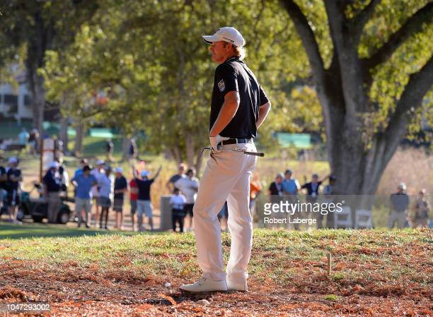 Brandt Snedeker plays his shot out of the rough on the 17th hole during the final round of the Safeway Open at the North Course of the Silverado...