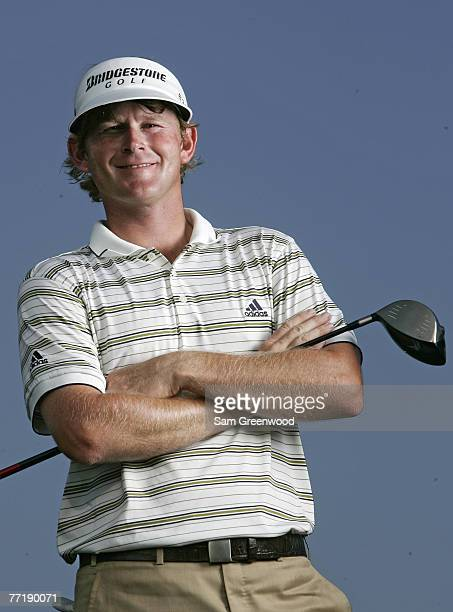 Brandt Snedeker portrait following the second round of the Nationwide Tour Championship held at The Houstonian Golf and Country Club in Richmond,...