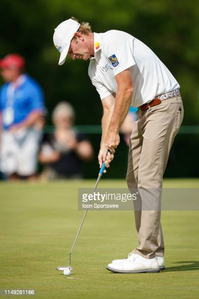 Brandt Snedeker putts during the final round of the RBC Canadian Open at Hamilton Golf and Country Club on June 9 2019 in Ancaster ON Canada