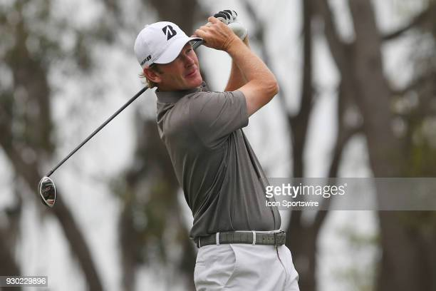 Brandt Snedeker tees off during the third round of the Valspar Championship on March 10 at Westin Innisbrook-Copperhead Course in Palm Harbor, FL.