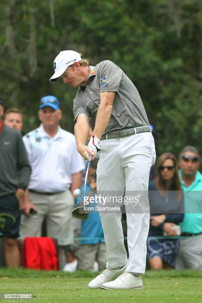 Brandt Snedeker tees off on the 11th hole during the third round of the Valspar Championship on March 10 at Westin Innisbrook-Copperhead Course in...