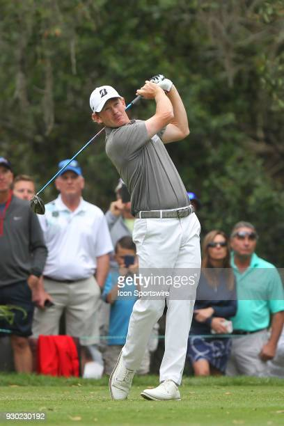 Brandt Snedeker tees off the 11th hole during the third round of the Valspar Championship on March 10 at Westin Innisbrook-Copperhead Course in Palm...